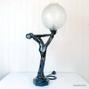 ART DECO FEMALE TABLE LAMP