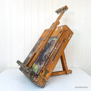 PAINTED BOXED FOLDING ART EASEL