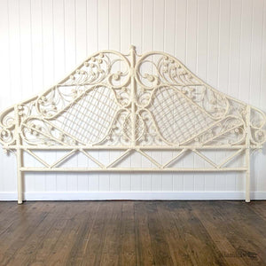 ORIGINAL 1960S CANE KING HEADBOARD