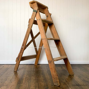 STEP LADDER WITH SIGNAGE
