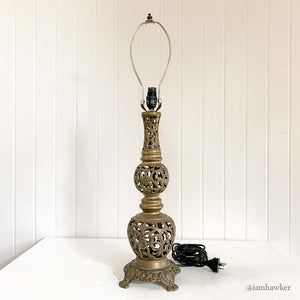 ARABIC STYLE BRASS TABLE LAMP