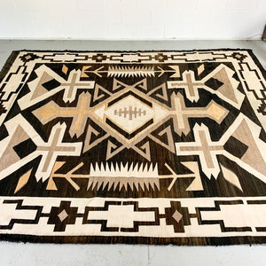 GIANT 1940S TRADITIONAL NAJAVO FLOOR RUG