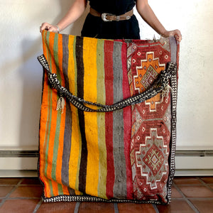 MIDDLE EASTERN WOVEN FABRIC SACK