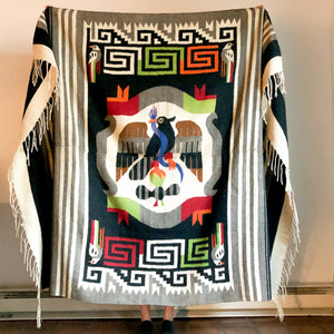 MEXICAN BLANKET WITH BLUE SNAKE