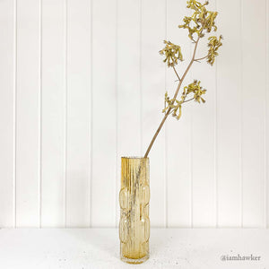 YELLOW LOG GLASS VASE