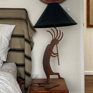 METAL KOKOPELLI TABLE LAMP