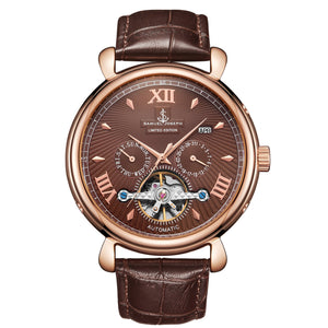 Limited Edition Mocha & Gold Automatic Skeleton Men's Watch