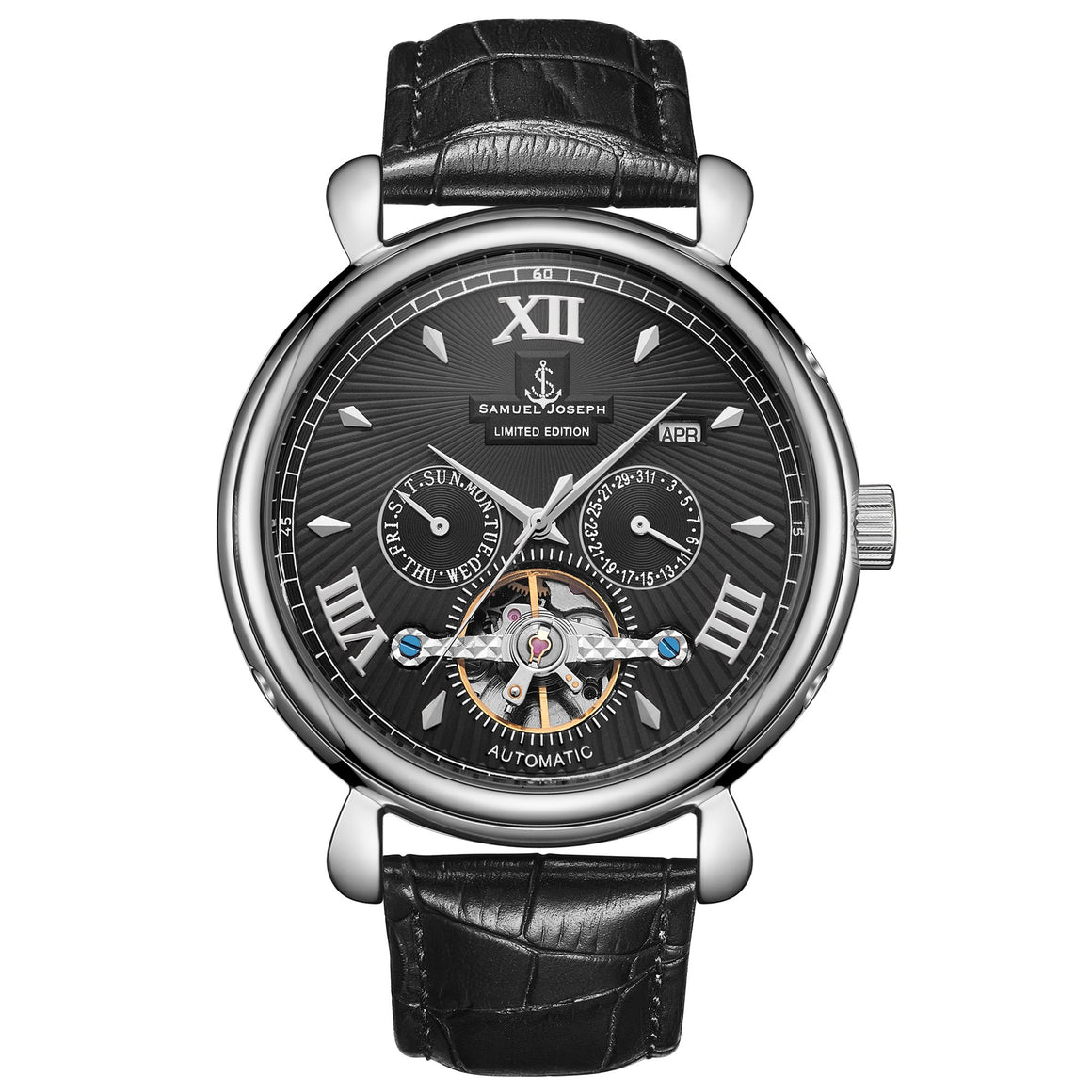 Samuel Joseph black Automatic Luxury Mens Watch