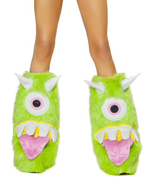 Party Monster One Eyed Leg warmer in One Eyed Lime