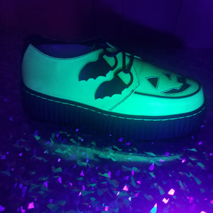 *Glow in the Dark* LAST PAIR Size 10  Creepers