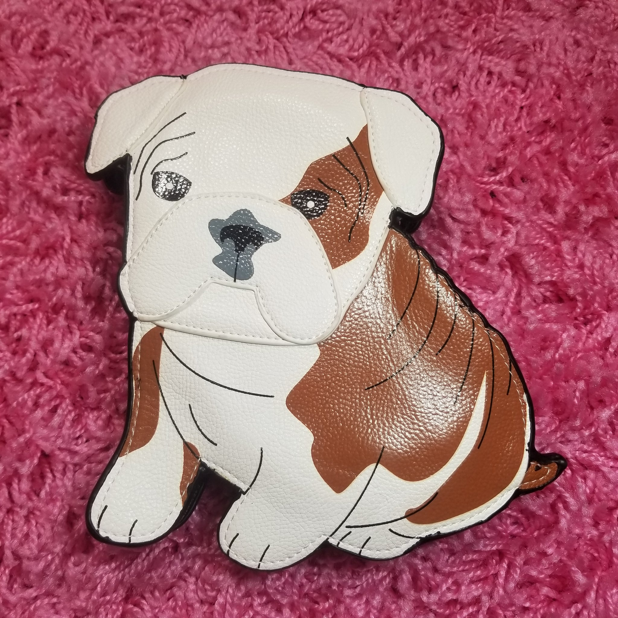 Bulldog Puppy Crossbody Purse