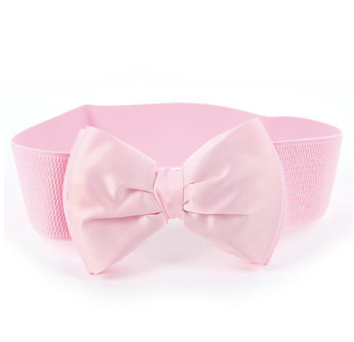 Marie Pink Bow Belt