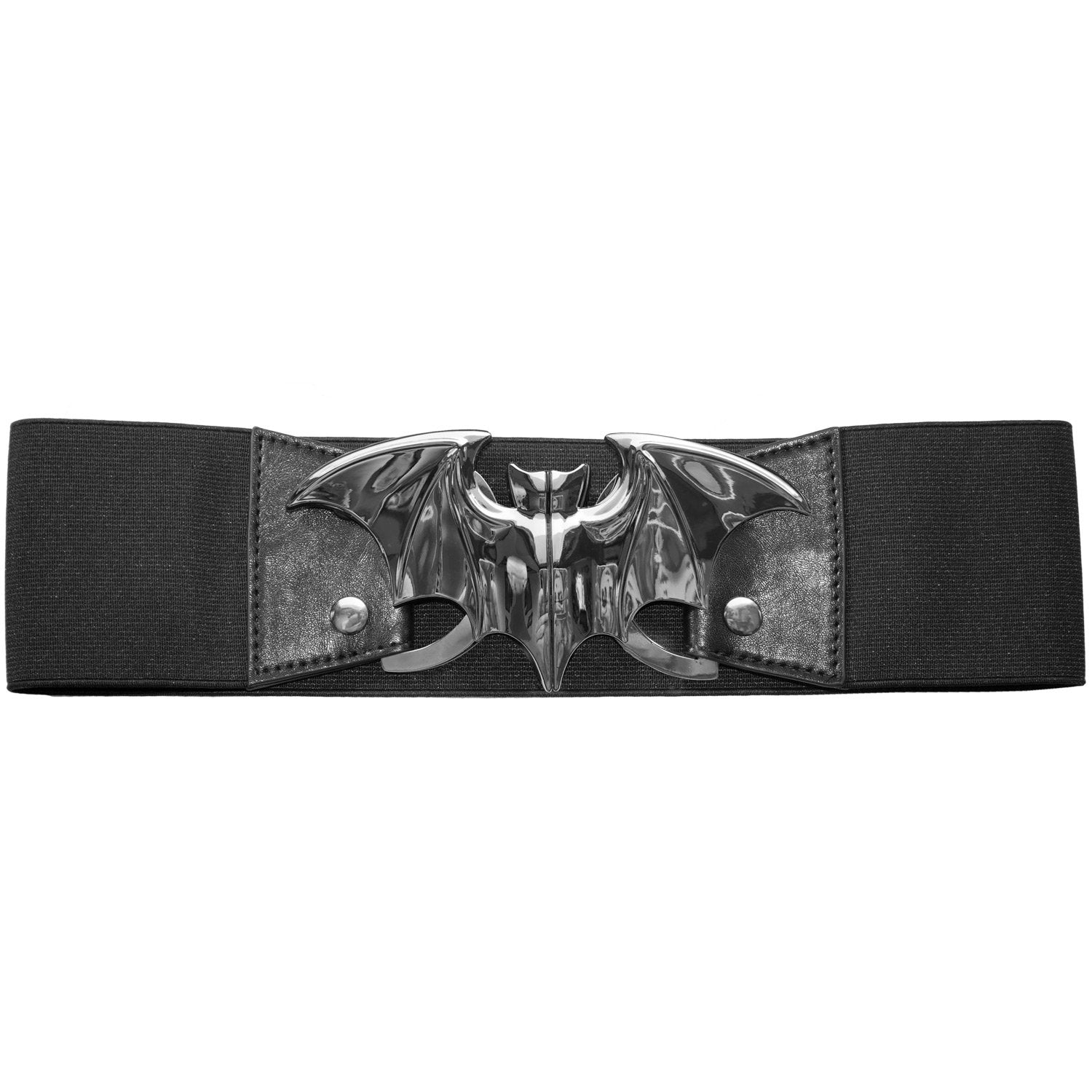 Bewitching Bat Elastic Waist Belt in Noir