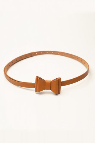 Bow Belt in Tan