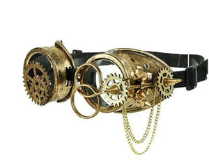 Steampunk Antique Gears Spiked Goggles