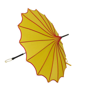 Ketchup and Mustard Scalloped Edge Parasol Style Umbrella