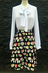 Sushi Party A-Line Skirt **Last Chance Size 3XL Only **