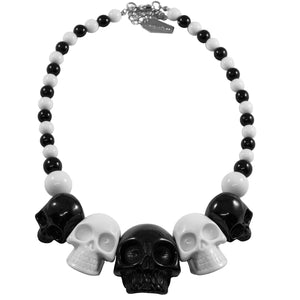 Black and White Skull Necklace