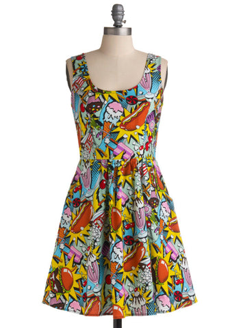 Snack Attack Dress **Size M Only**