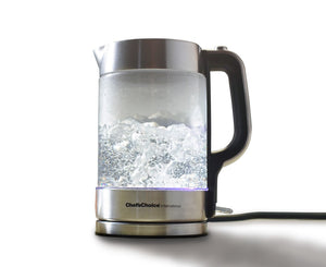 Photo of 682 kettle boiling on a white background