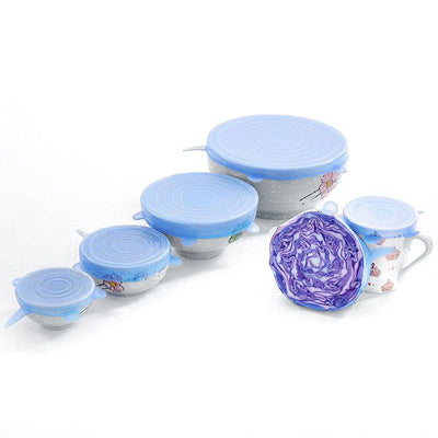 Zero-Waste Reusable Lids (6 Piece Set)