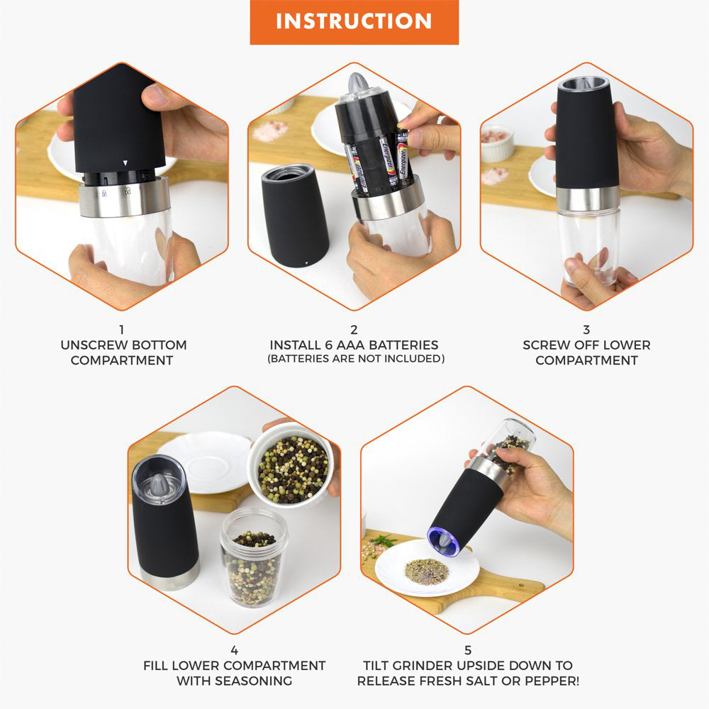 (BUY 2 FREE SHIPPING AND SAVE $2) Automatic Electric Spice Grinder