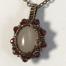 Load image into Gallery viewer, Moonstone Flower Pendant