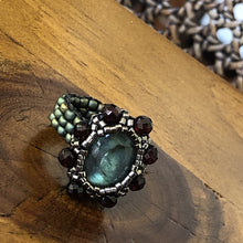 Load image into Gallery viewer, Gemstone Amulet Ring
