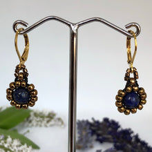 Load image into Gallery viewer, Gemstone Daisy Earrings