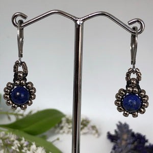 Gemstone Daisy Earrings