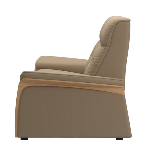 Stressless Mary 2 Seater (2 Power Seats) - Paloma Funghi/Oak Wood