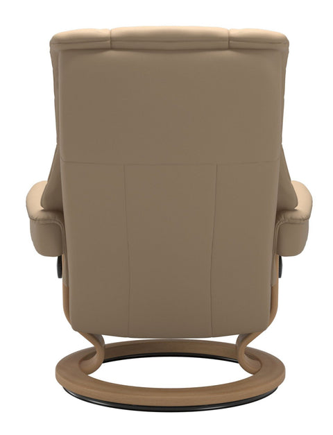 Stressless Mayfair Medium Classic Base Chair - Paloma Beige/Oak Wood