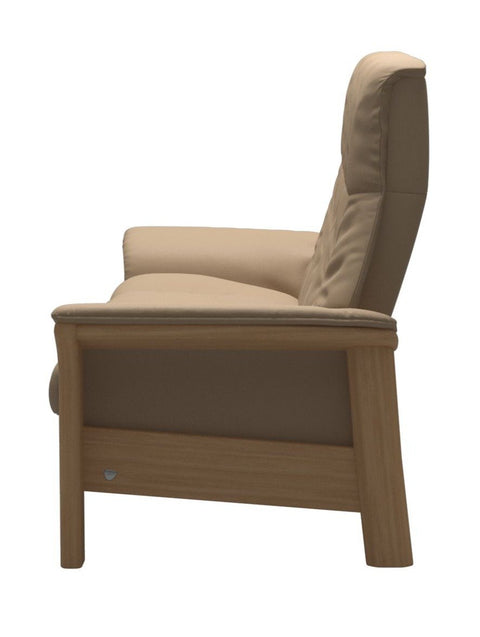 Stressless Windsor High Back 3 Seater - Paloma Beige/Oak Wood