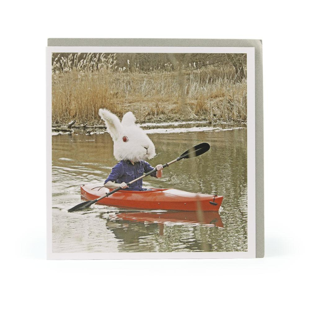 'Kayak Bunny' Card for 1000 Words