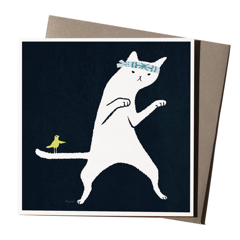 'Karate Cat' Card