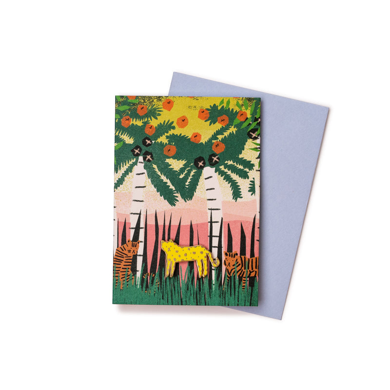 'Spots or Stripes' Enamel Pin Card