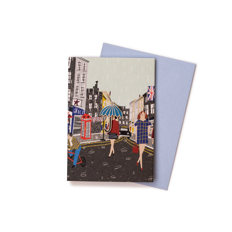 'London Rain' Enamel Pin Card