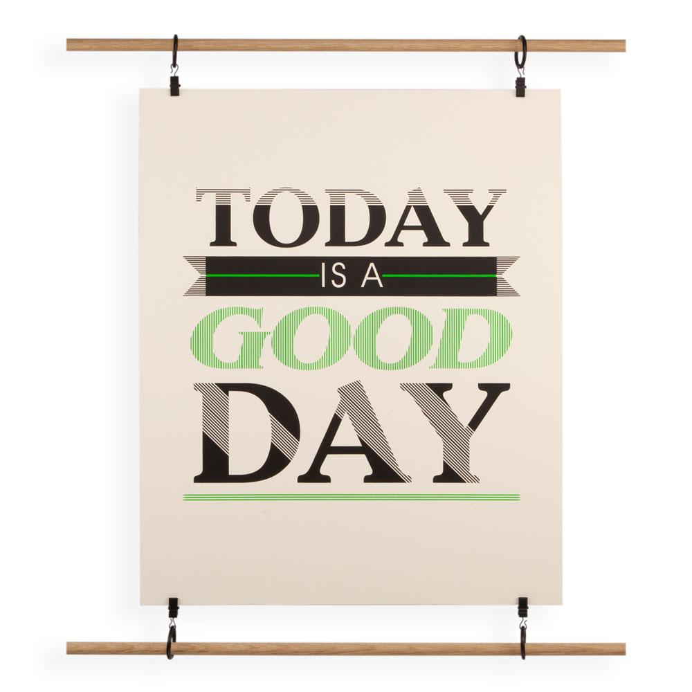 'Today Is A Good Day' Screenprint by USTUDIO