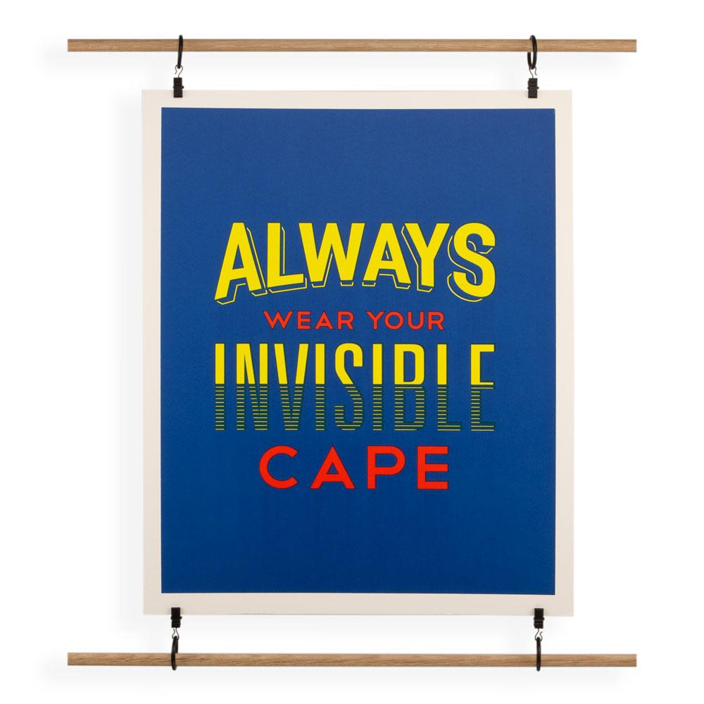 'Invisible Cape' Screenprint by USTUDIO