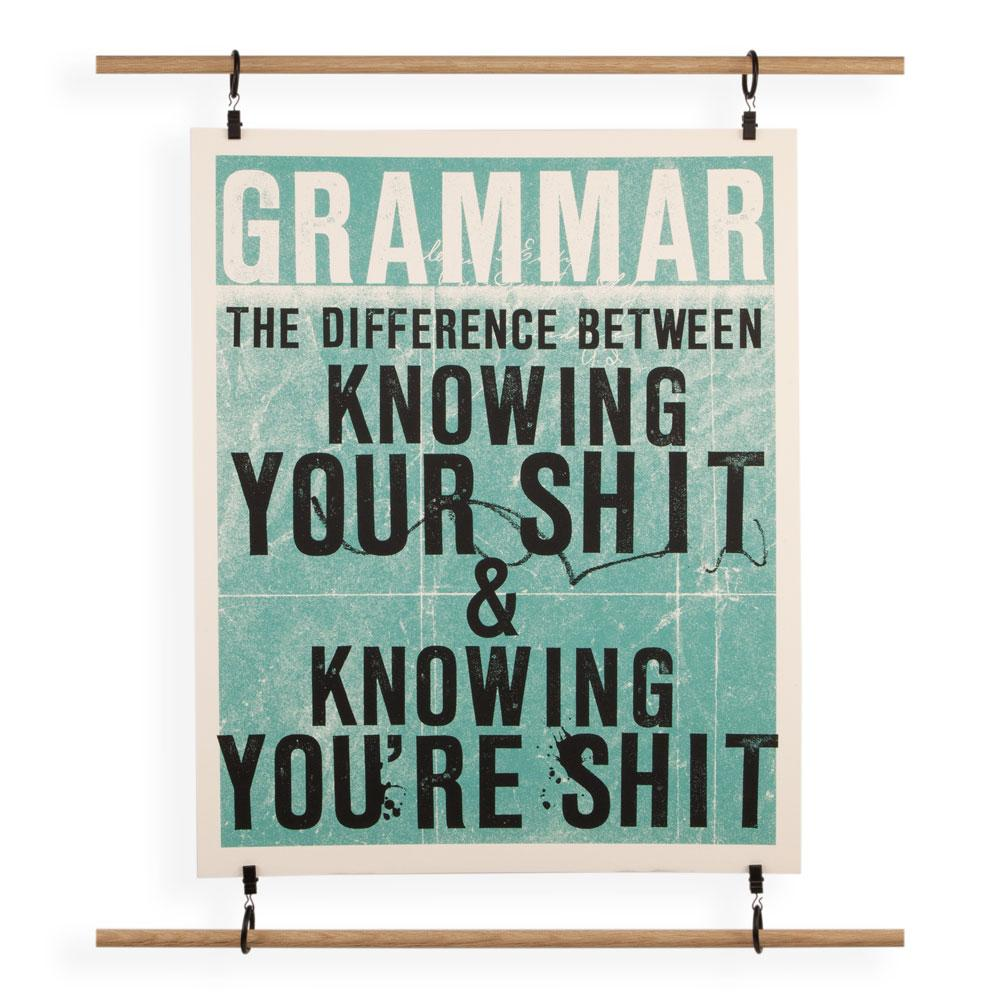 'Grammar' Screenprint