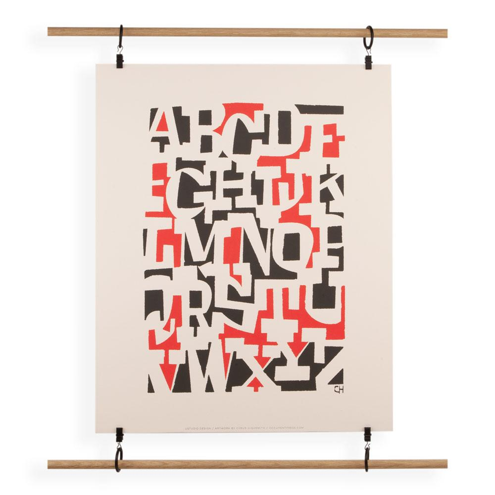 'Alphabet' Screenprint by Cyrus Highsmith