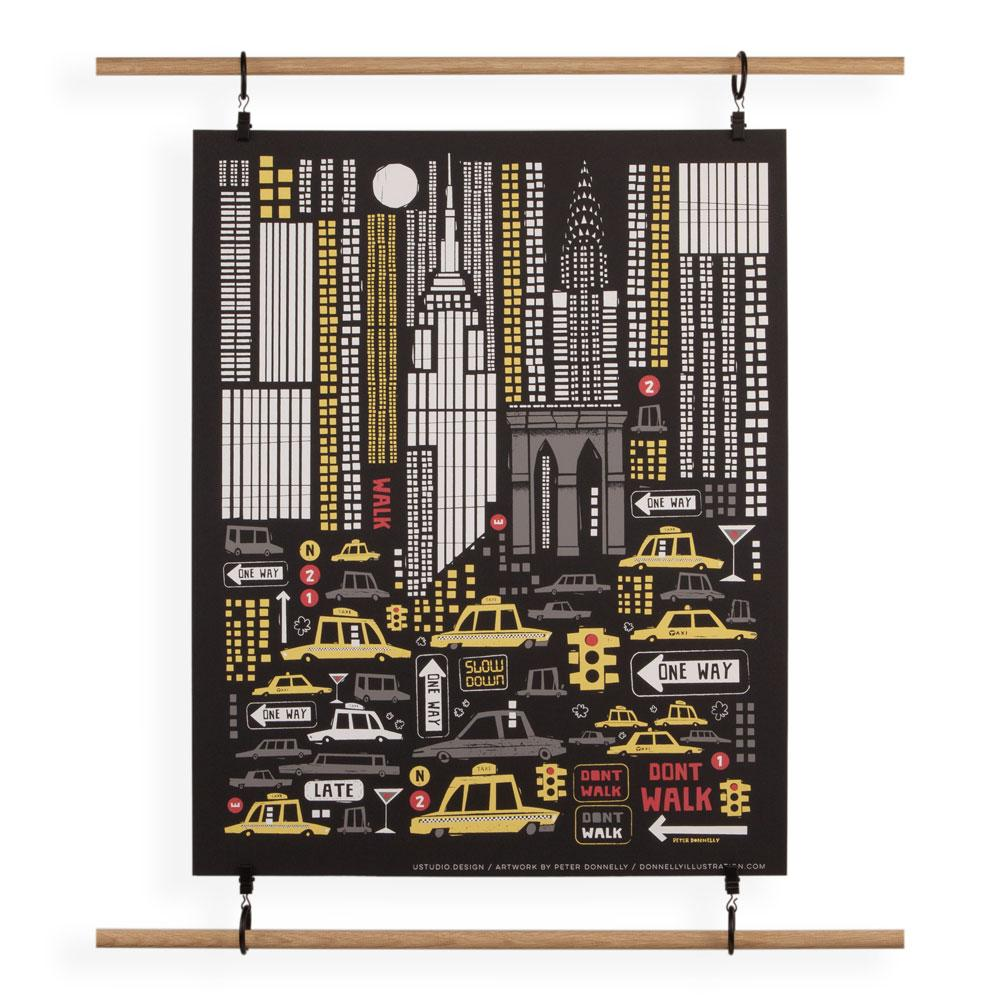 'New York' Screenprint by Peter Donnelly