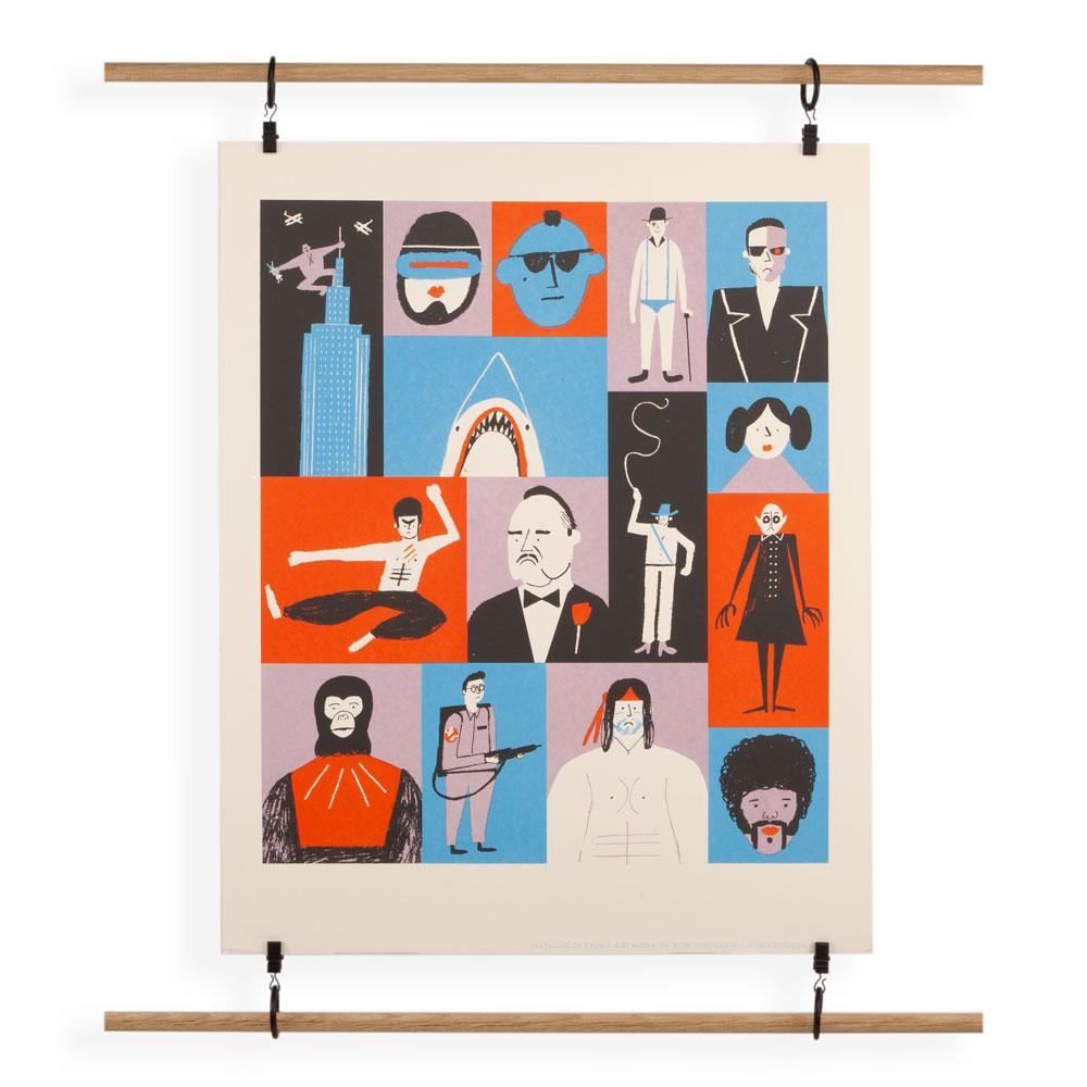 'Films' Screenprint by Rob Hodgson