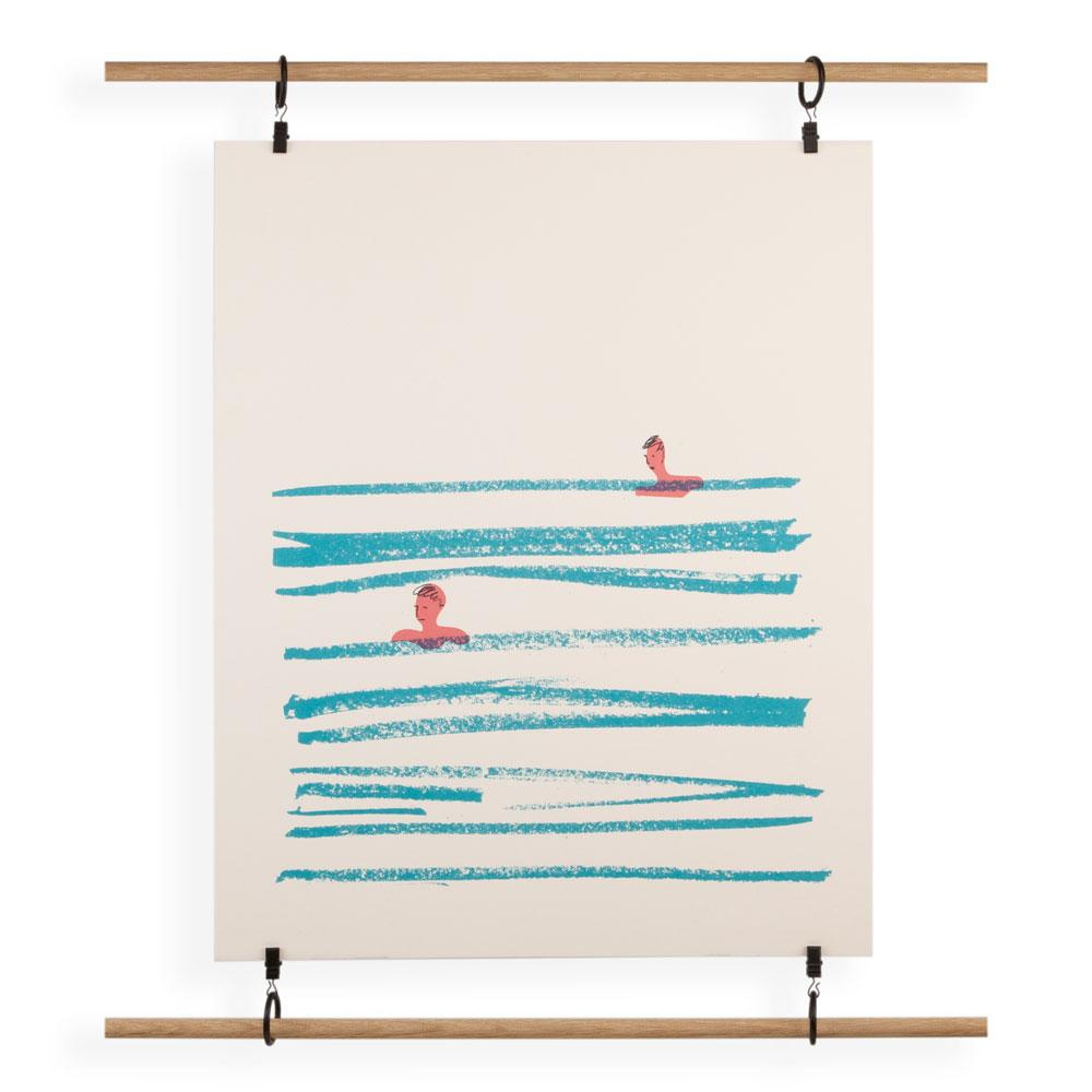 'Swimmer' Screenprint by Rhona Garvin
