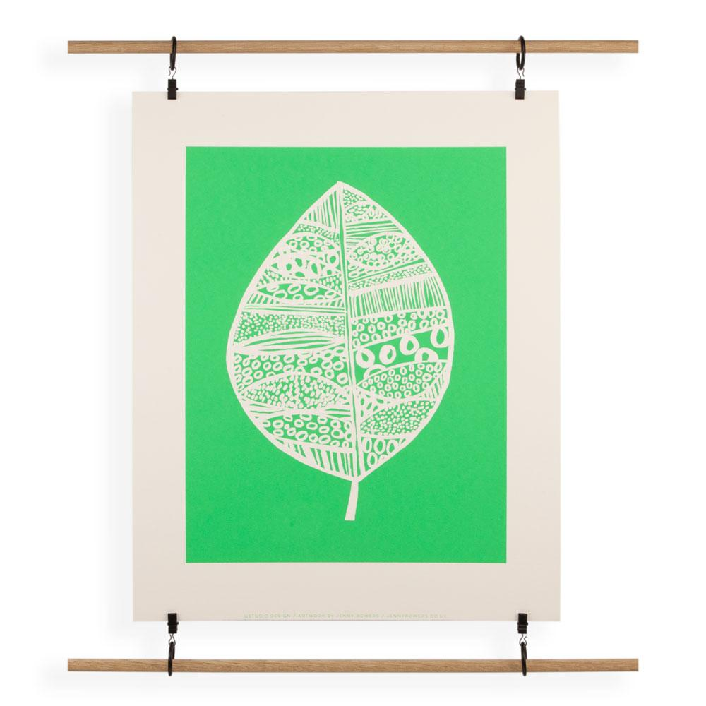 'Leaf Green' Screenprint by Jenny Bowers