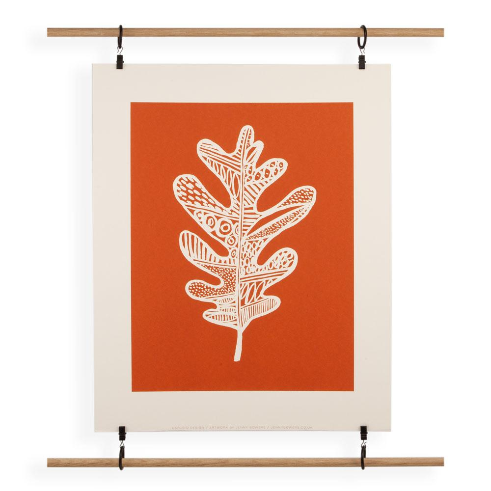 'Leaf Rust' Screenprint by Jenny Bowers