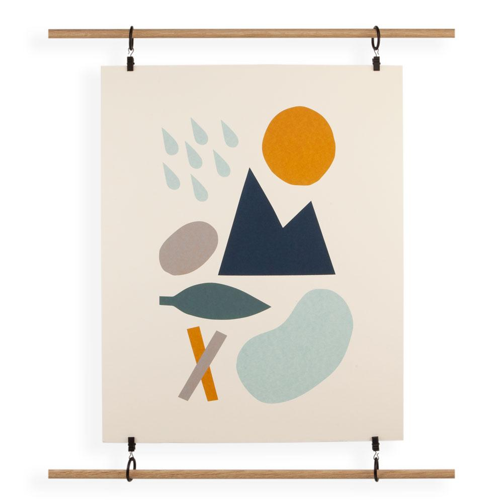 'Day Shapes' Screenprint by Clare Owen