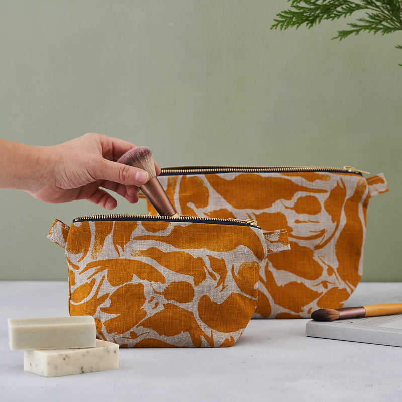 'Creatures' Yellow Large Wash Bag