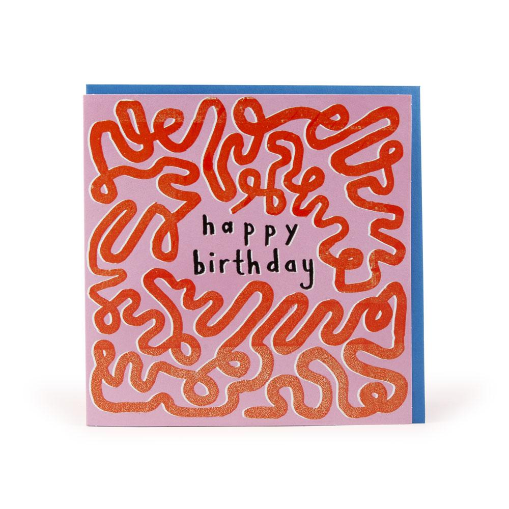 'Happy Birthday Pink' Card by Katy Welsh