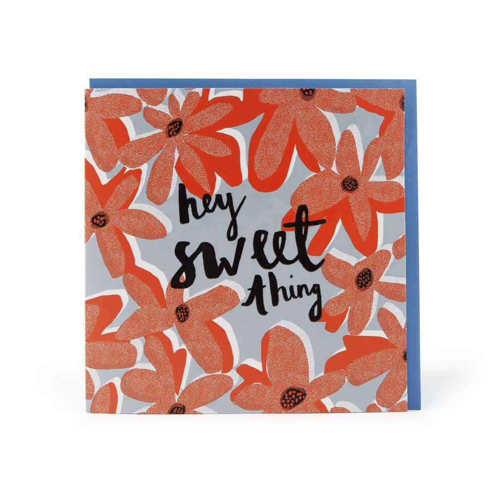 'Hey Sweet Thing' Card by Katy Welsh